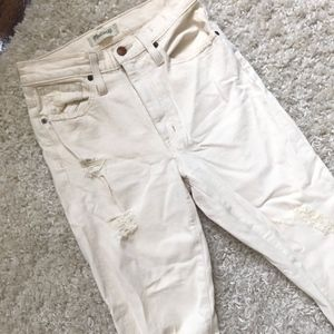 Madewell Jeans - off white made well jeans- mid waisted
